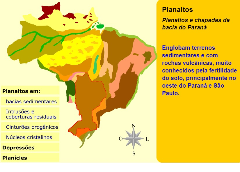 Mapa Interativo Do Relevo Brasileiro De Jurandyr Ross Tudogeo