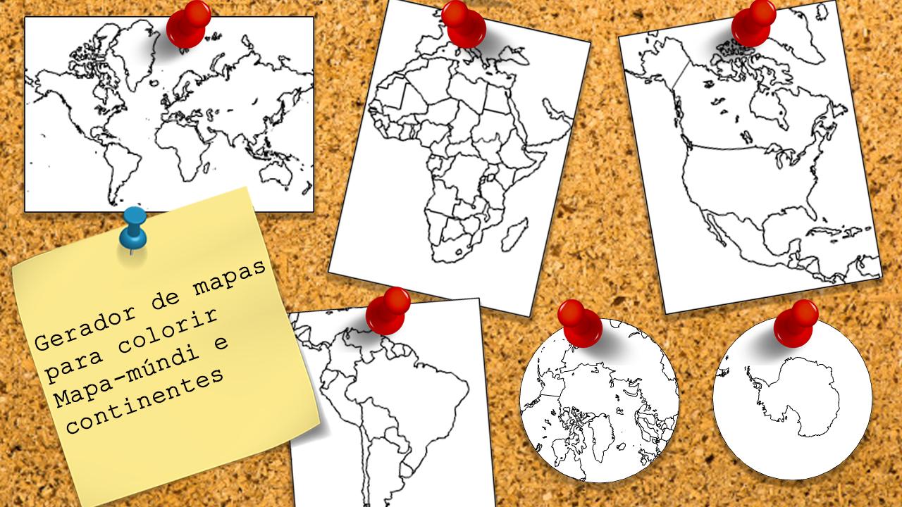 Gerador De Mapas Para Colorir Mapa Mundi E Continentes Tudogeo